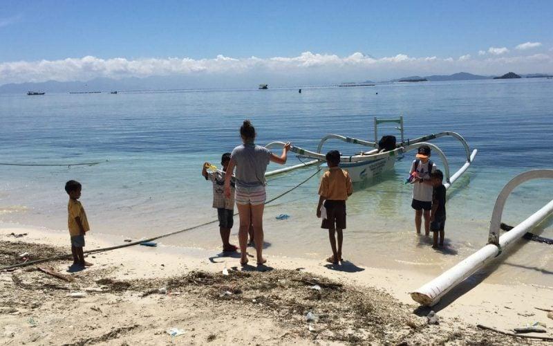 Gede kids, fishing boat& Addy