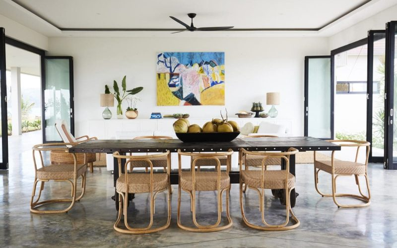 Open plan living:dining w ocean & hilltop1 copy