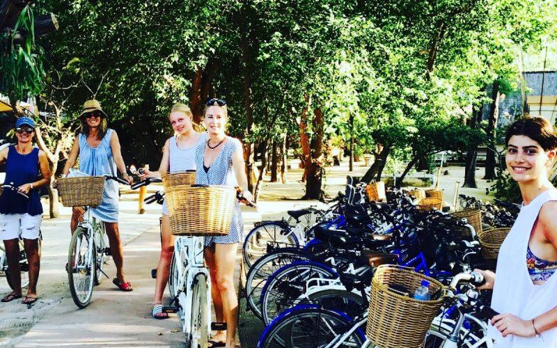 girls biking