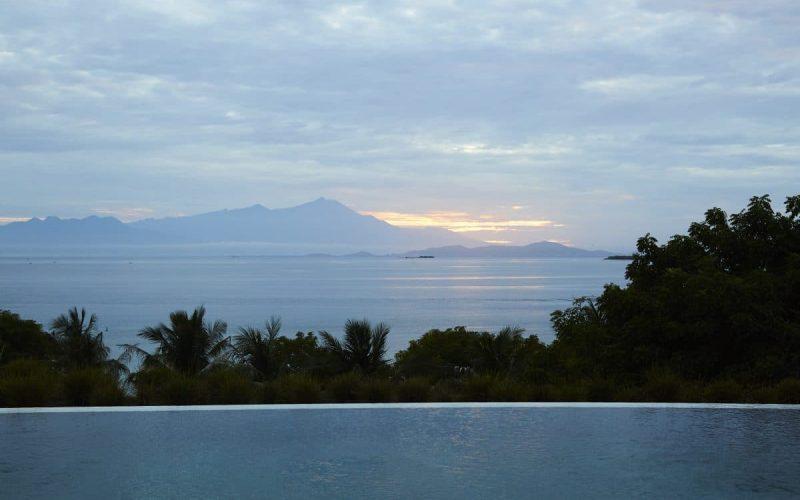 over pool to Lombok's Mt Rinjani copy